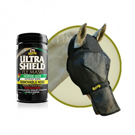 Masque Cheval Anti mouche Ultra Shield Fly Mask avec filet amovible pour naseaux